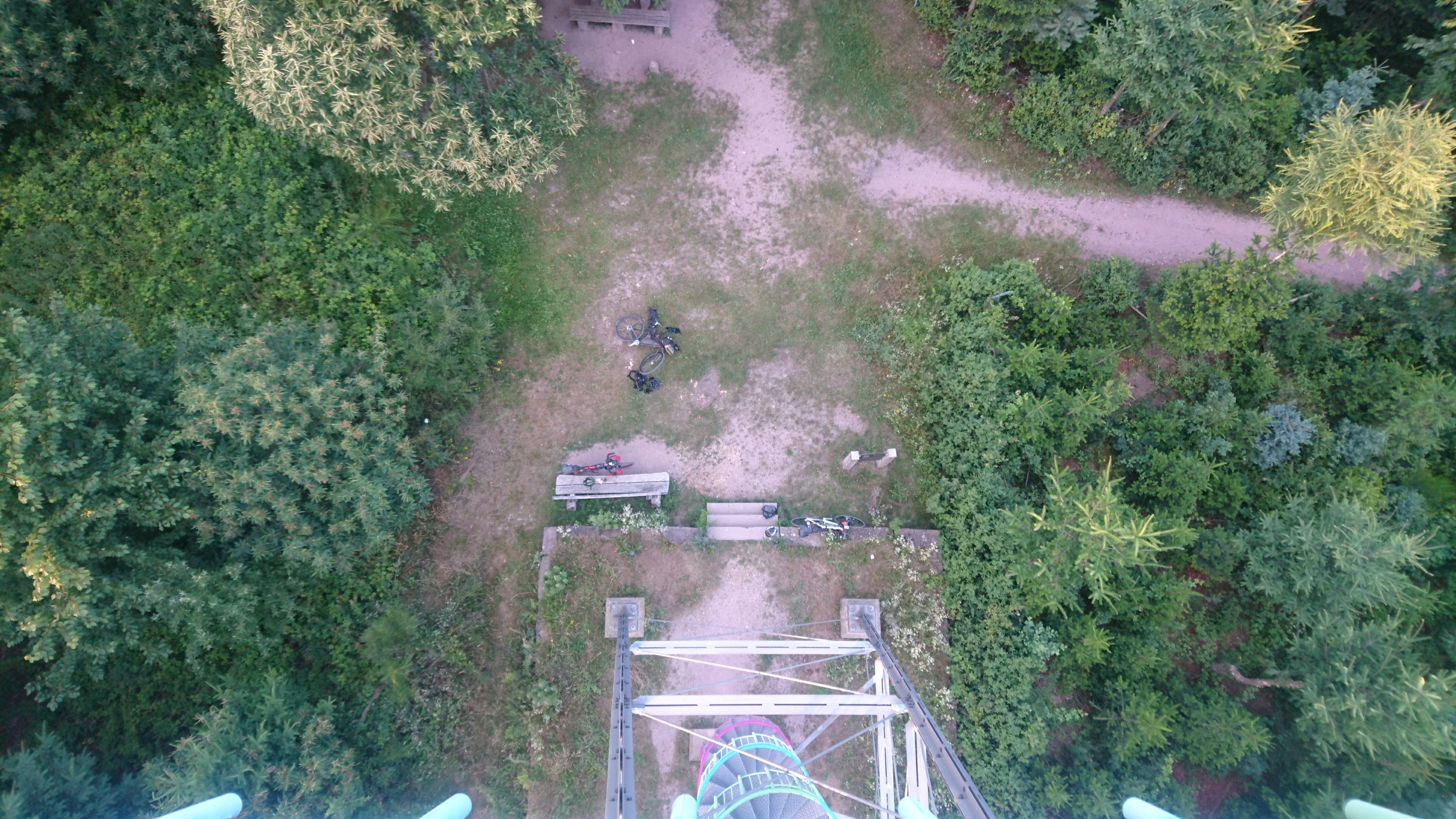 View from the tower of where we slept.