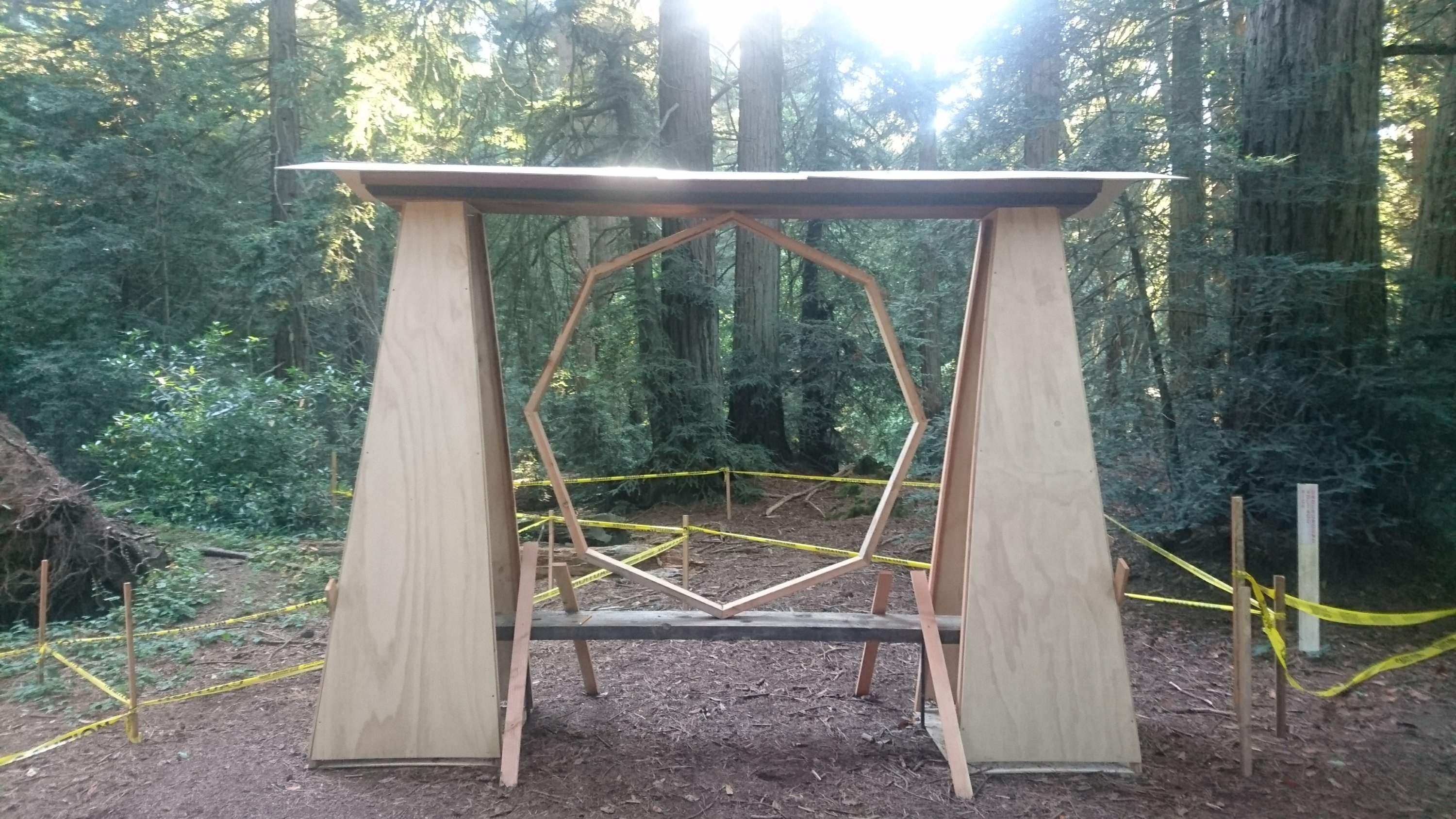 Unkown wooden structure in Redwoods